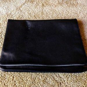 Black Leather Tablet Case